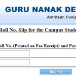 GNDU Exam Admit Card 2019