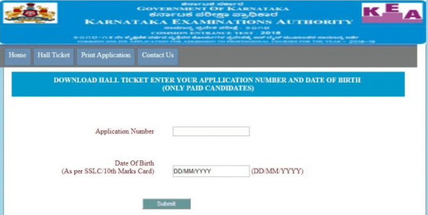 Karnataka Board 12th Hall Ticket 2019