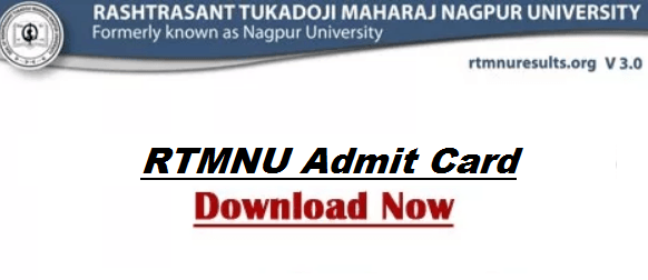RTMNU Admit Card 2018-2019 Summer & Winter Semester