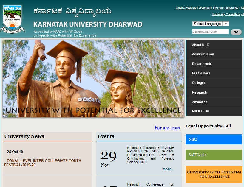 Karnataka University Admit Card