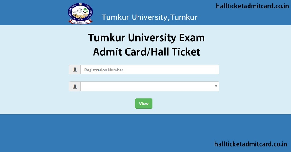 Tumkur University Exam Hall Ticket 2019
