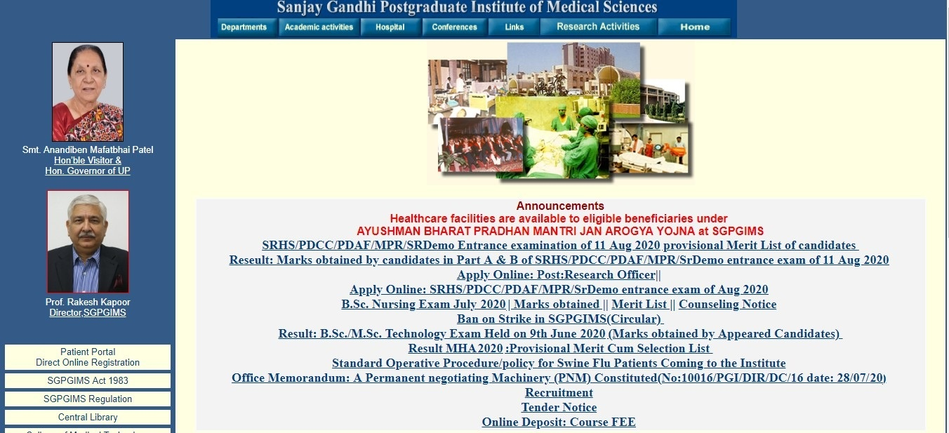 www.sgpgi.ac.in SGPGI Admit Card 2020