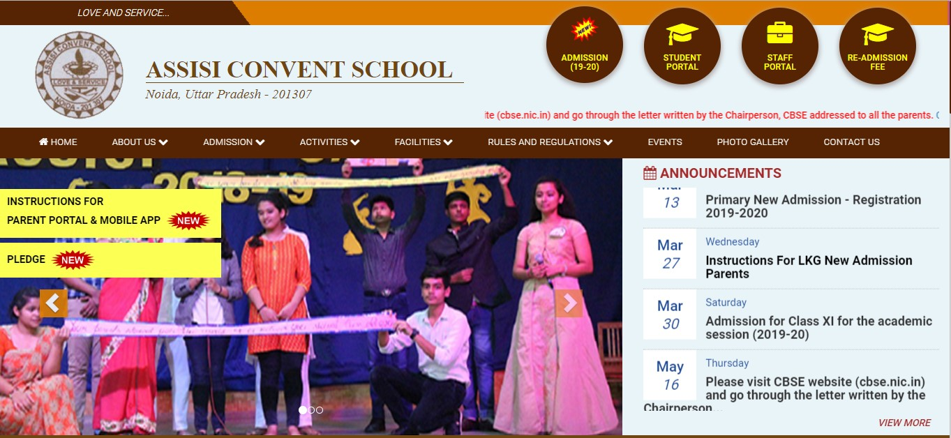 Assisi Convent School Noida Admission