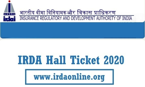 IRDA Exam Hall Ticket 2020