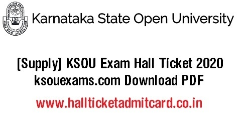 KSOU Exam Hall Ticket