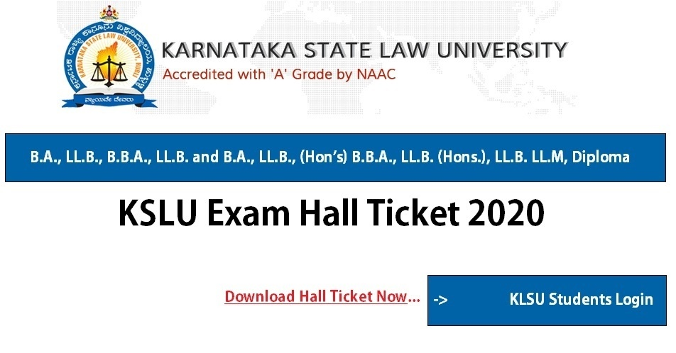 KSLU Exam Hall Ticket