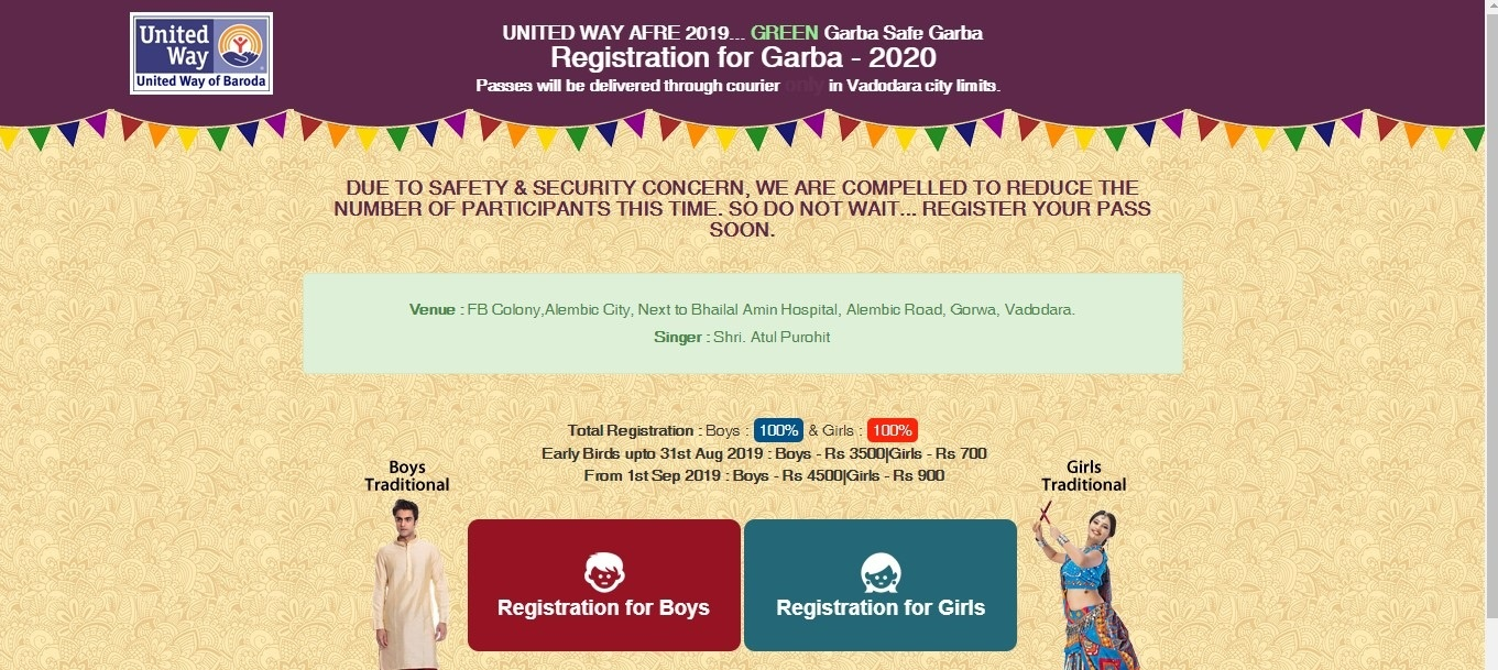 United Way Baroda Online Registration
